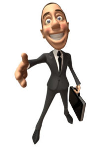 Businessman qui offre sa poignée de main